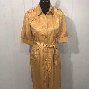 Yoana Baraschi Shirt Dress Sleeves Trench Vintage